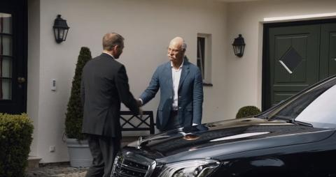 BMW's amazing farewell to Mercedes CEO on his retirement