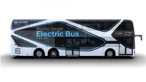 Hyundai launches electric double-decker bus in Seoul
