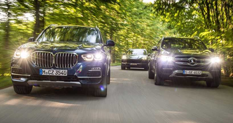 The Middle of Luxury: BMW X5 vs. Mercedes GLE and Porsche Cayenne