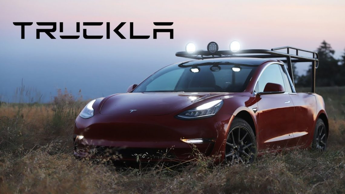 A Woman Turned Her Tesla Model 3 Into a Pickup and It's Awesome