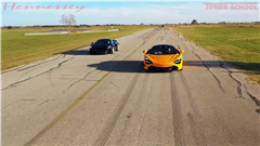 Watch Hennessey's McLaren 600LT Take On Its 720S Big Brother in a Quarter-Mile Drag