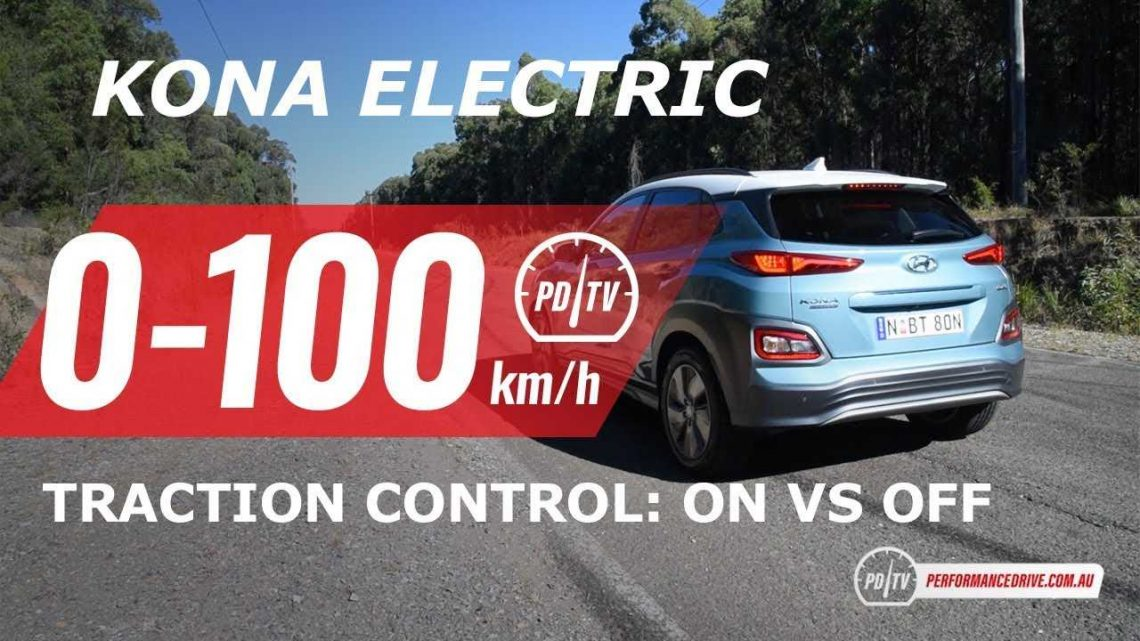 Hyundai Kona Electric Acceleration Test: Traction Control On  / Off