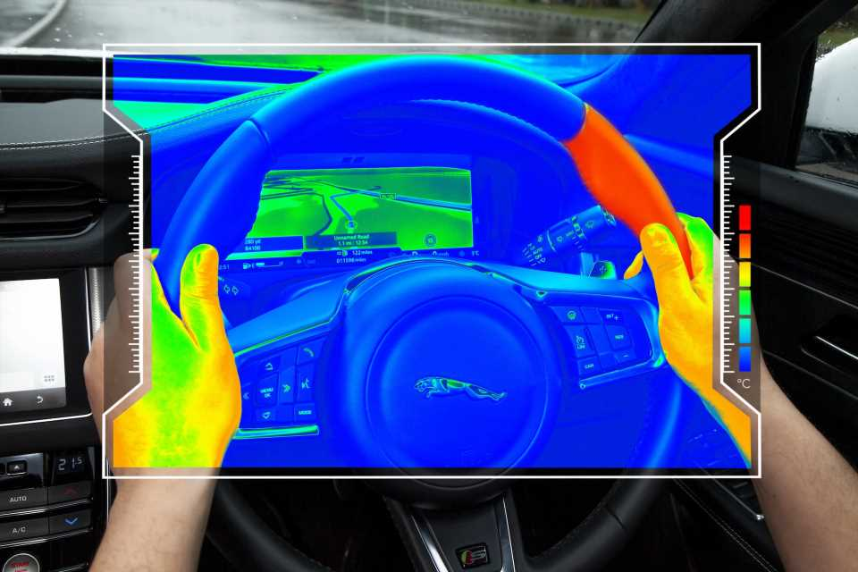 Jaguar Land Rover tests steering wheel that heats and cools to indicate driving directions