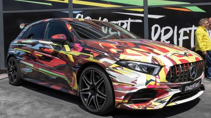 Colorful Mercedes-AMG A45 Concept Drift Poses At The Nürburgring