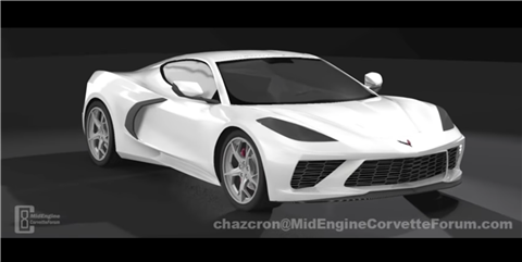 This Fan-Made 3D Render Shows What the Mid-Engined Corvette C8 Could Look Like