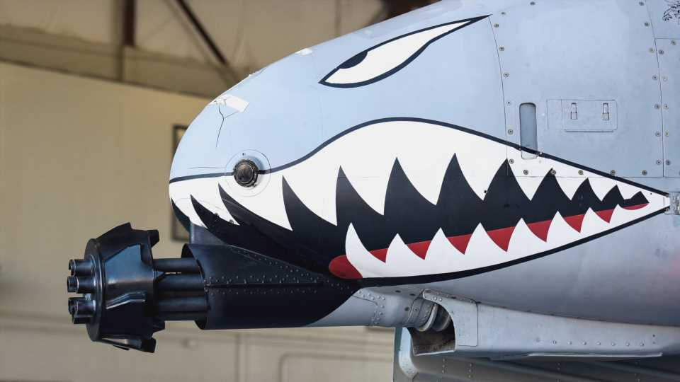 This A-10 Warthog Ground Trainer Still Has A 'Tickler' Muzzle Device On Its Cannon (Updated)