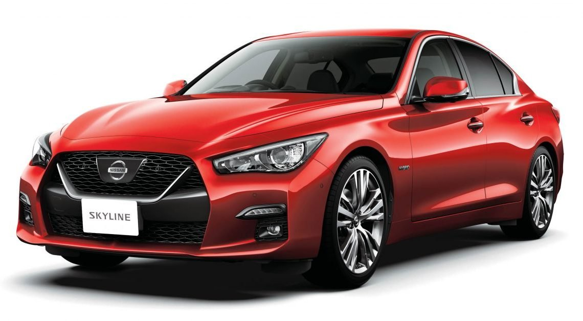 2019 Nissan Skyline facelift debuts in Japan – ProPilot 2.0; GT-R-inspired styling; up to 405 PS twin-turbo V6