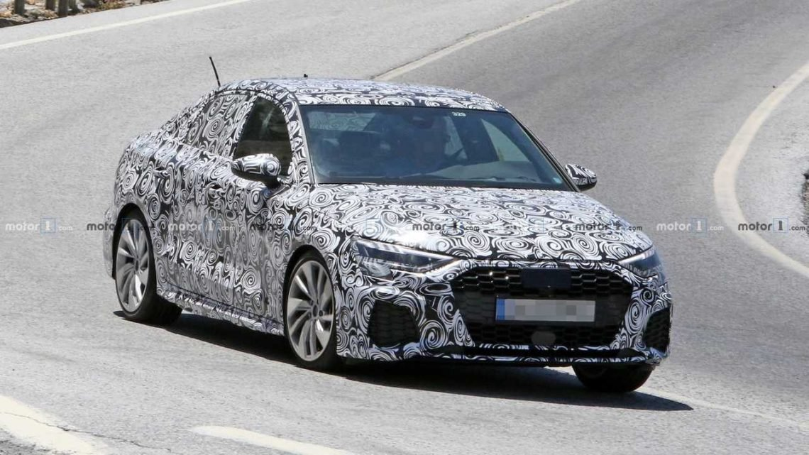 New Audi A3 Sedan Spied Most Likely In S Line Guise