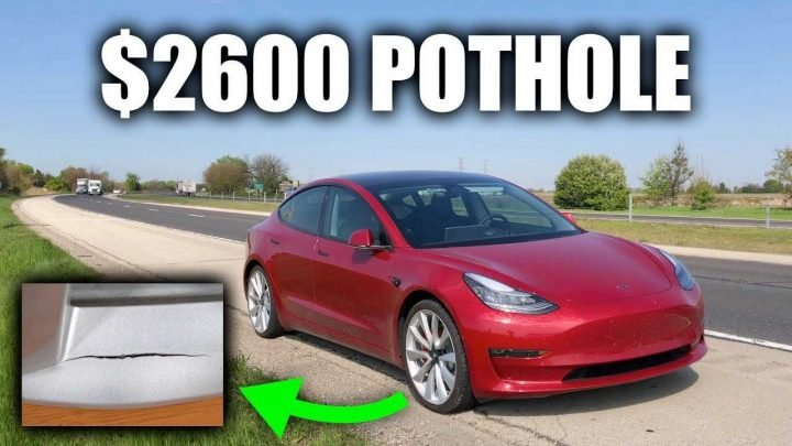 Hitting A Pothole Can Cost $2,600 To Repair For A Tesla Model 3