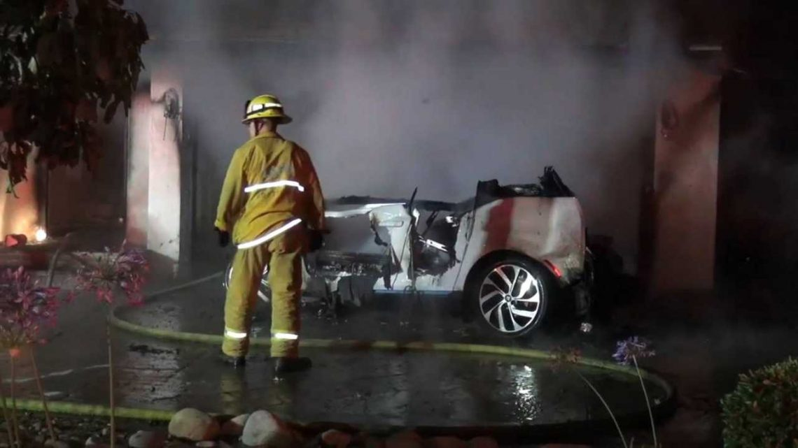 Another EV, Now A BMW i3, Is Involved In A Fire: Video