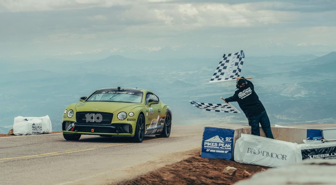 The Bentley Continental GT Is Now Pikes Peak's Fastest Production Car