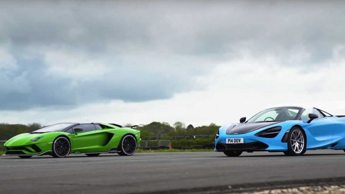 Lamborghini Aventador S Drag Races McLaren 720S For Droptop Supremacy