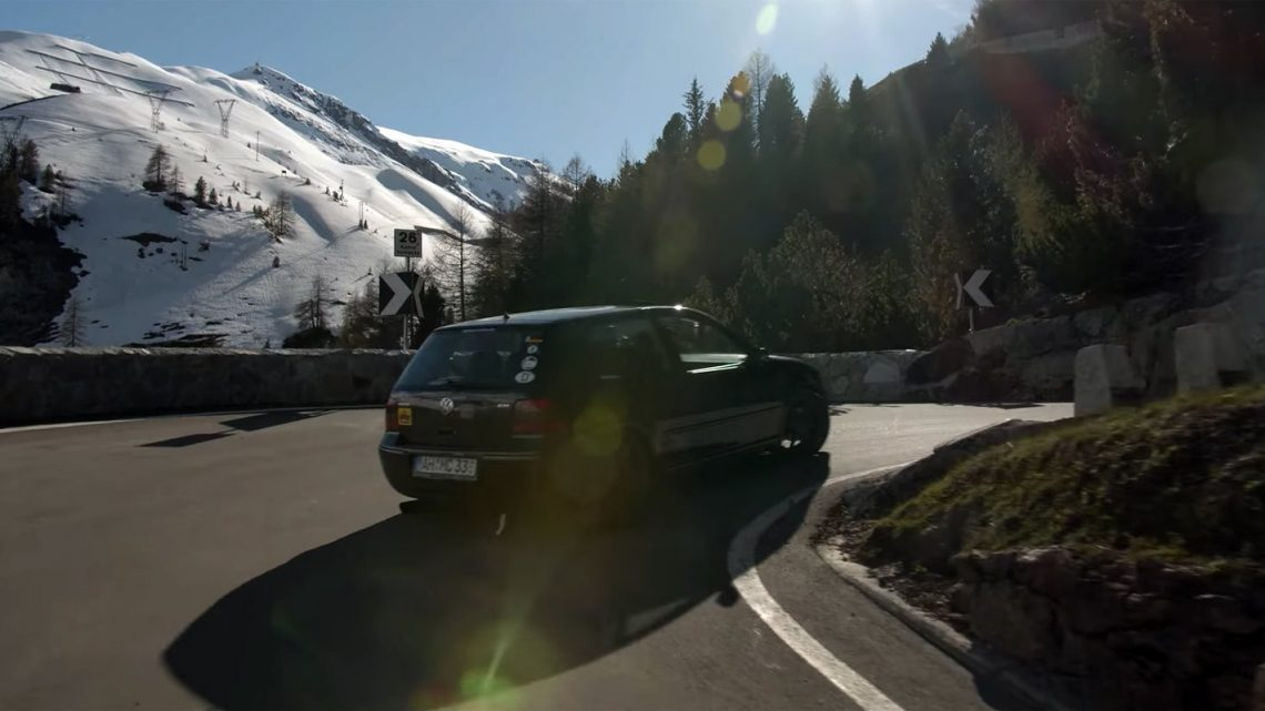 Watch: Mighty Car Mods Takes on Wothersee and the Stelvio Pass in the Cheapest GTI in Germany