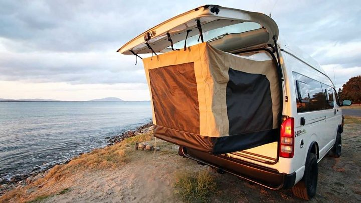 Australia Makes A Cool Camper Van With Pop-Out Bed Tent