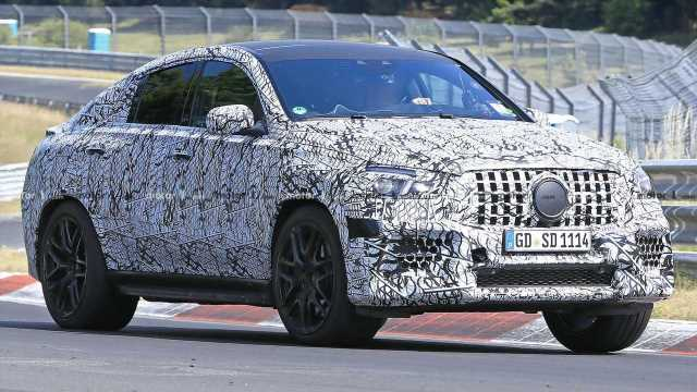 Mercedes-AMG GLE 63 Coupe Spied Ripping Off Its Camo On The 'Ring