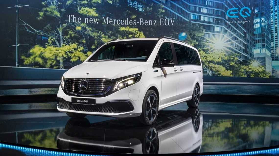 Mercedes-Benz Presents Production 252-Mile EQV Electric Minivan