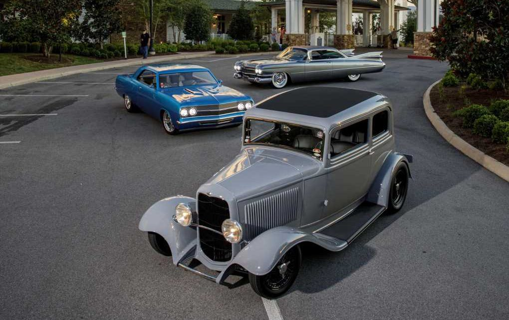 Triple Crown of Rodding … 1932 Ford, 1965 Chevelle, 1959 Cadillac … Wows the Crowd