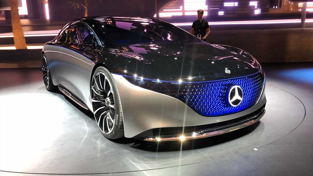 Mercedes Concept EQS Luxury Electric Car to Rival Tesla Model S
