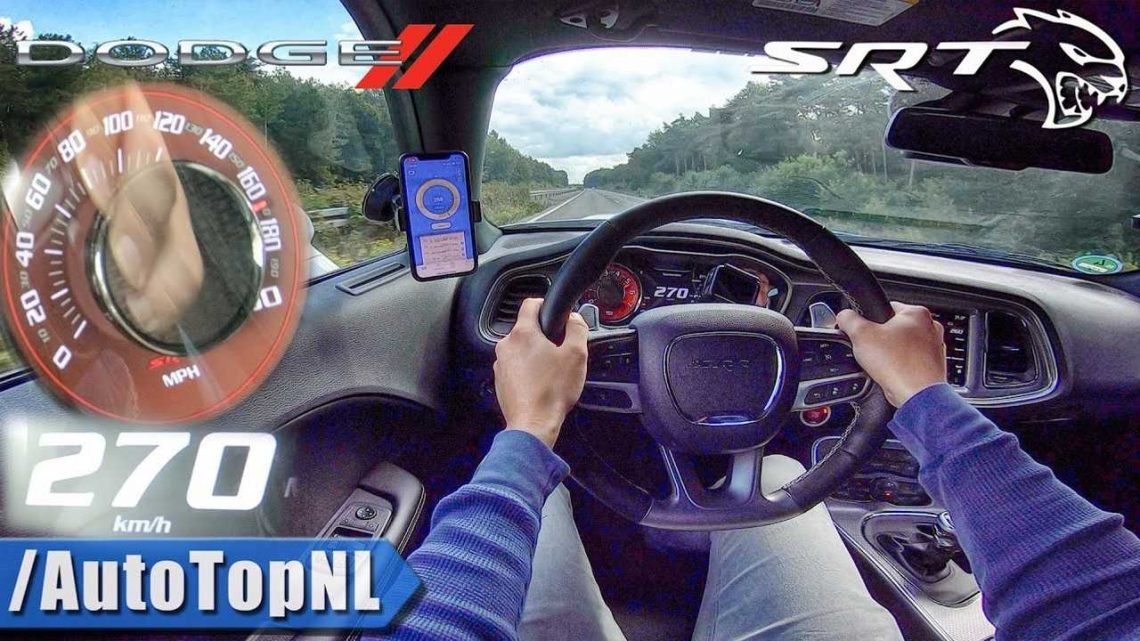 717-HP Challenger Hellcat Hits Autobahn's Unrestricted Section