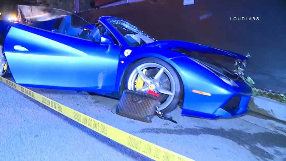 Ferrari 488 Spider and Maserati Ghibli Collide Head-On in Extremely Pricey LA Crash