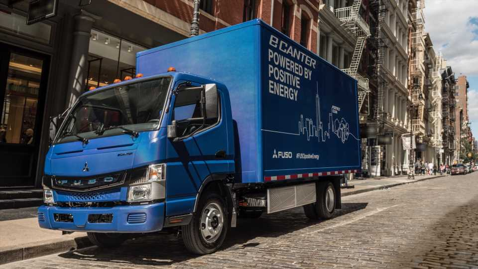 Fleet of Fuso eCanter Electric Delivery Trucks Finally Hit the Road With Penske