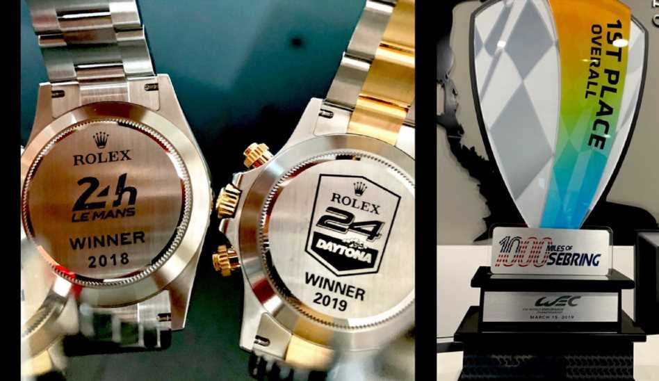 Fernando Alonso Flaunts Racing Superiority Via Tweet With Rolex Watches, Racing Trophies