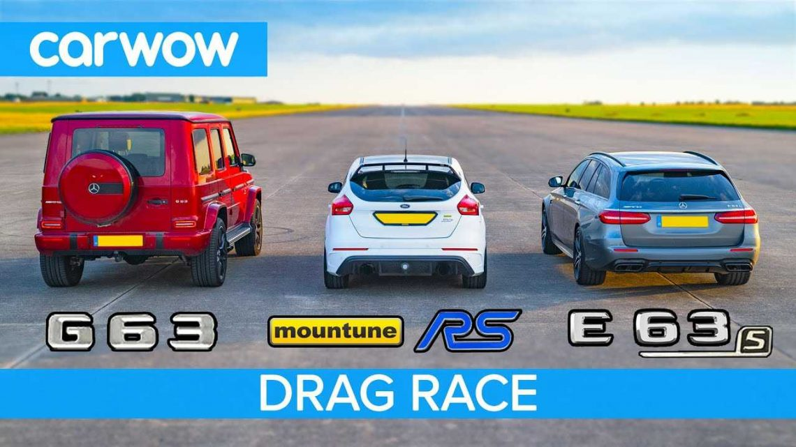 Can A Focus RS Mountune Keep Up With G63, E63 S AMG In A Drag Race?