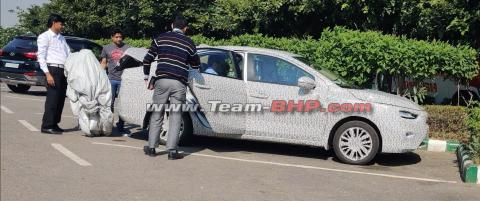 Scoop! 5th-gen Honda City in side profile with LED headlights