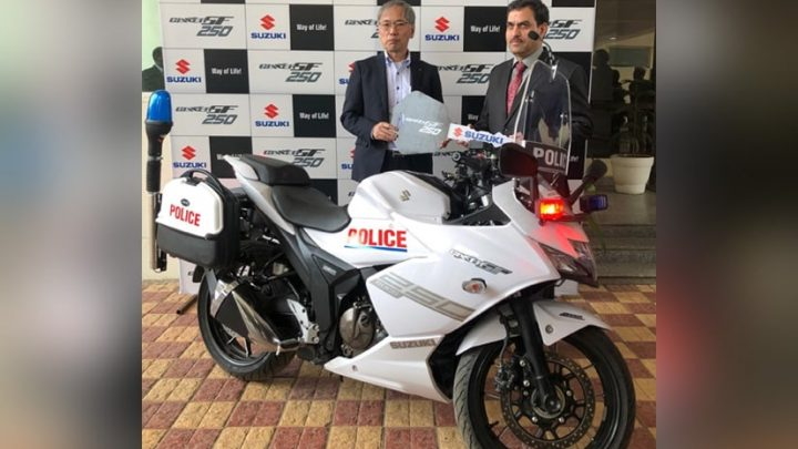 Gurugram Police Adds 10 Suzuki Gixxer SF 250 Motorcycles To Their Squad