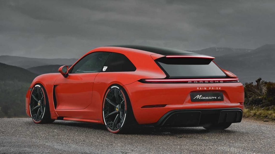 Porsche Mission C Rendering Teases An Electrified Shooting Brake