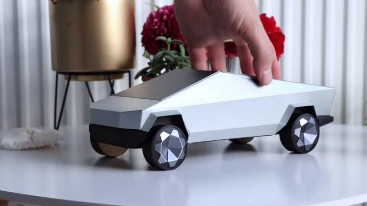 Artist Creates Perfect Tesla Cybertruck Paper Clone: You Can Do It Too