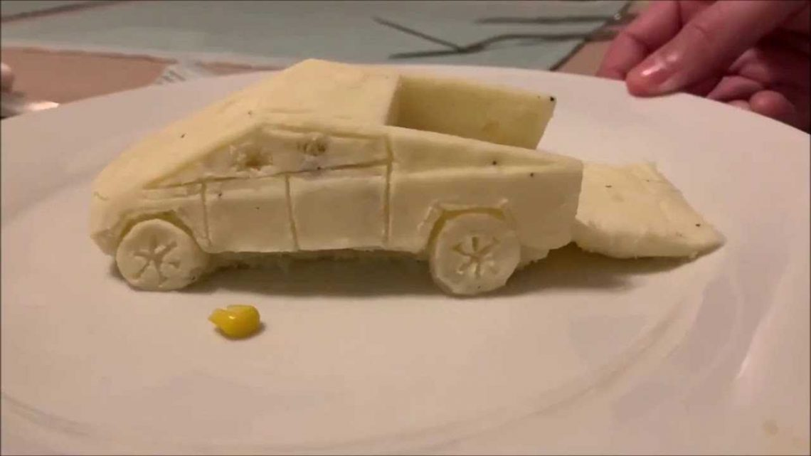 Tesla Cybertruck In Crazy New Mashed Food Form Is Compelling