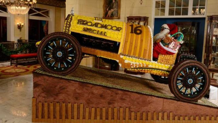 This Hotel Built a Life-Size Pierce Arrow Race Car out of Gingerbread
