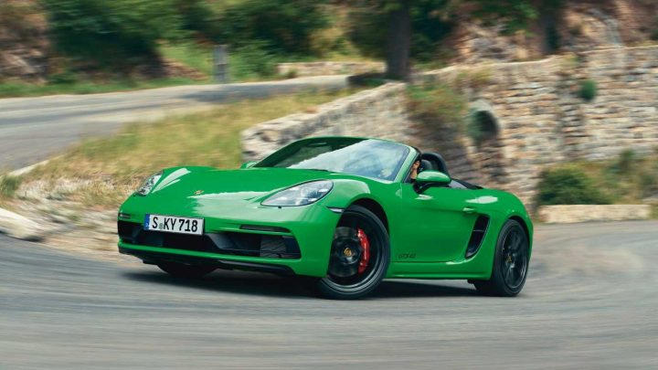 The Porsche 718 Boxster and Cayman GTS 4.0 Are Here Packing the GT4's Flat-Six