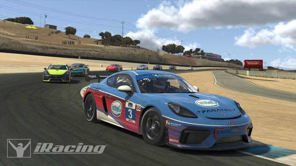 Here's Your First Look at iRacing's Porsche 718 Cayman GT4 Clubsport MR in Action