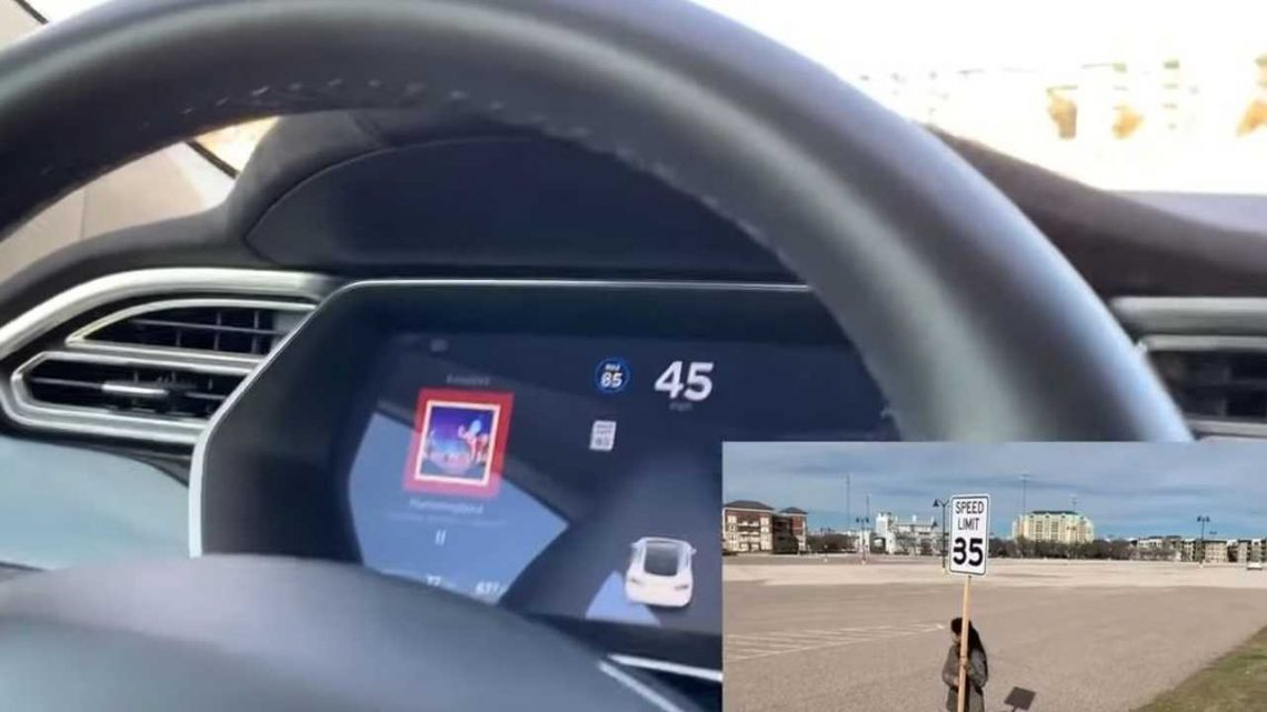 Hackers Modify Speed Limit Sign To Trick Tesla First-Gen Autopilot