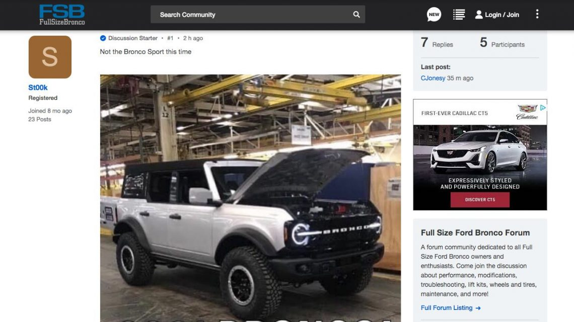Is this the 2021 Ford Bronco or a Clever Photoshop Job?
