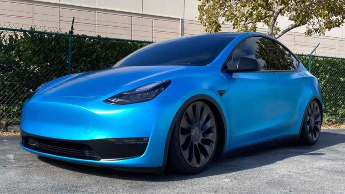 Check Out This Tesla Model Y With Active Air Suspension
