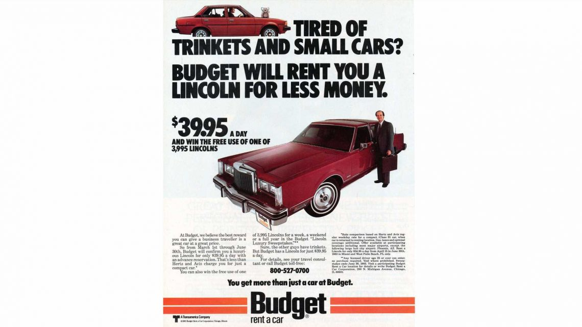 1983: Why Rent the Corolla When You Can Rent the Town Car?