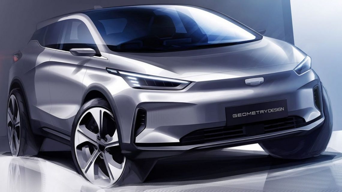 Geometry C electric hatchback teased in new sketches – how's this for an electric Proton Suprima?