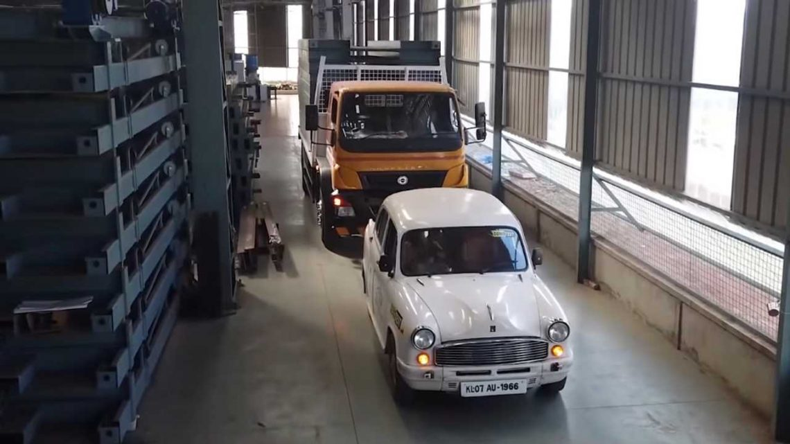 Watch Hindustan Ambassador EV Conversion Pull A Truck