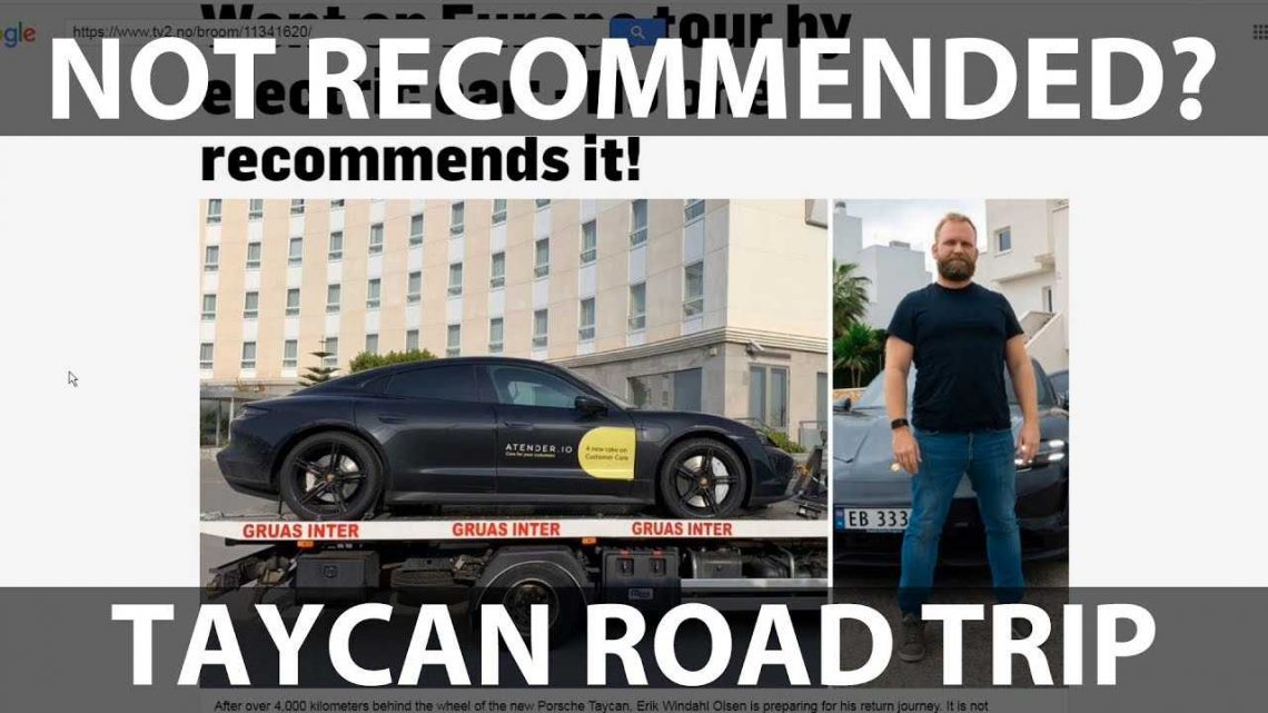Why You Should Never Drive A Porsche Taycan From Norway To Spain