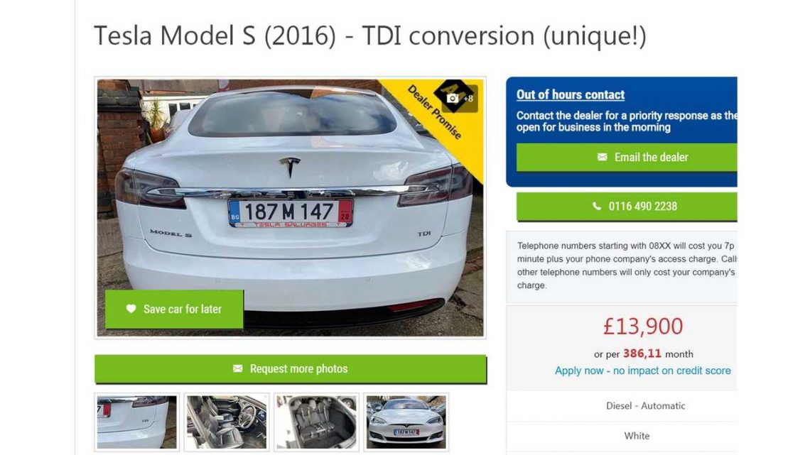 Due To Tesla's Salvage Policy, Model S Receives VW Diesel Engine