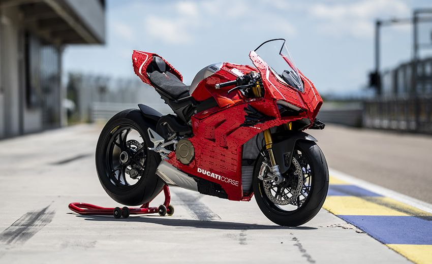 The life-sized Lego model of the Ducati Panigale V4R – paultan.or