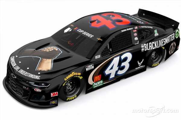 Wallace and famed No. 43 to sport 'Black Lives Matter' livery