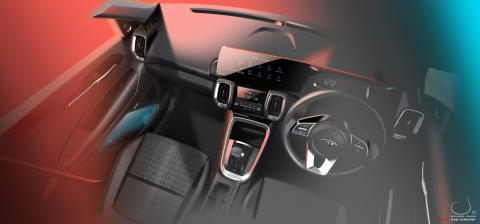 Kia Sonet interior revealed in new official images