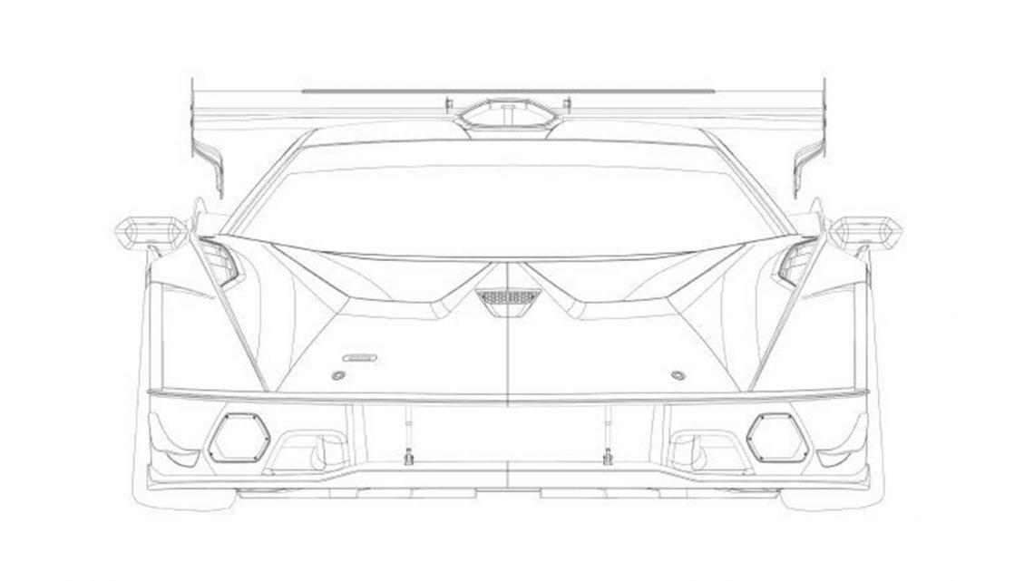 Eyeless, 800-HP-Plus Lamborghini SCV12 Hypercar Outed in Patent Filing