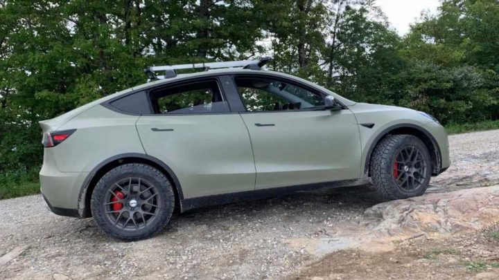 Watch World's First Off-Road-Ready Tesla Model Y Tackle Tough Terrain