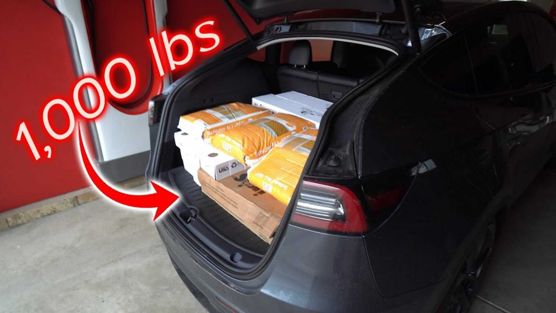Tesla Model Y Heavy Cargo Load And Stress Test