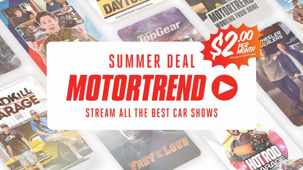 Sign Up to the MotorTrend App's $2 Summer Deal